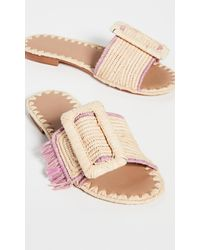 Carrie Forbes Kia Buckle Slides - Pink