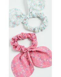 LoveShackFancy Gauze Swim Scrunchies - Multicolour
