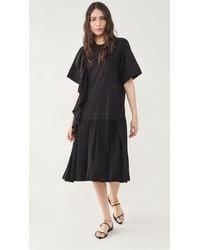 3.1 Phillip Lim Ruffle Combo Dress - Black