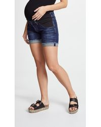 Citizens of Humanity Skyler Loose Maternity Shorts - Blue