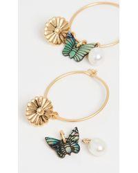 Madewell Garden Charms Hoop Earrings - Metallic