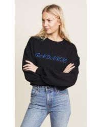 Rodarte - Cropped Radarte La Paris Sweatshirt - Lyst