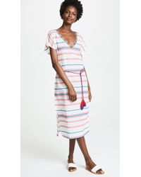 Velvet - Stripe Caftan Dress - Lyst