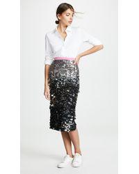 N°21 Sequin Midi Skirt - Metallic