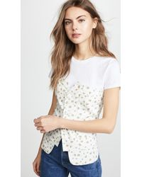 Laveer - Button Up Bustier Top - Lyst