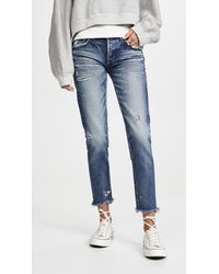 Moussy Mv Kelly Tapered Jeans - Blue