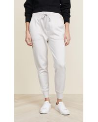 James Perse Slouchy Joggers - Metallic