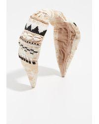 NAMJOSH - Embellished Shell Headband - Lyst
