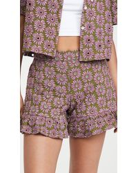 ABACAXI - Ruffle Shorts - Lyst