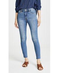 Wrangler High Rise Skinny Jeans - Blue