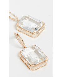 SHAY Portrait Gemstone Earrings - Metallic