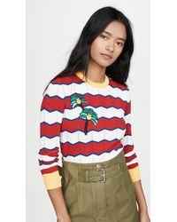 Stella Jean Striped Sweater - Red