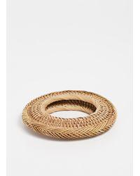 Cult Gaia - Rattan Bangle Bracelet - Lyst