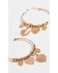 Gas Bijoux Mini Love Hoops - Metallic