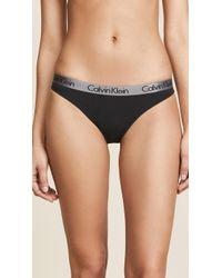 Calvin Klein - Radiant Cotton Thong Qd3539 - Lyst