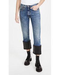 R13 Axl Slim Jeans W/ Cuff - Blue
