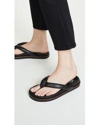 Free People Lena Footbed Flip Flops - Black