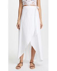 Miguelina Ballerina Skirt - White
