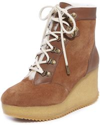 Joie - Alary Wedge Hiker Booties - Lyst