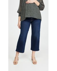 7 For All Mankind Maternity Cropped Alexa Jeans - Blue