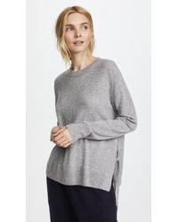 Vince - Side Tie Cashmere Crew Sweater - Lyst
