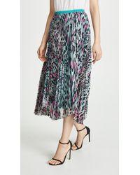 Loyd/Ford Pleated Leopard Skirt - Blue