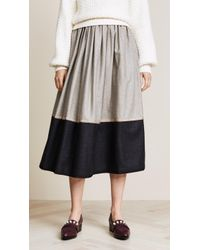 Rossella Jardini - Striped Midi Skirt - Lyst