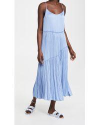 Vince Tiered Asymmetric Dress - Blue