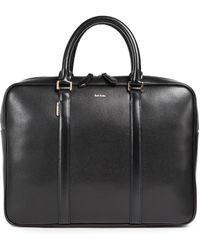 Paul Smith City Emboss Portfolio Briefcase - Black