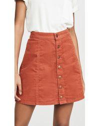 Wrangler Button Front Miniskirt - Multicolour