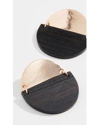 Sophie Monet The Medallion Earrings - Black