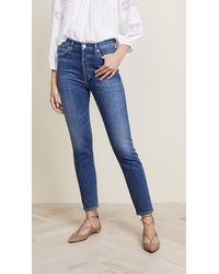 Citizens of Humanity Olivia High Rise Slim Ankle Jeans - Blue