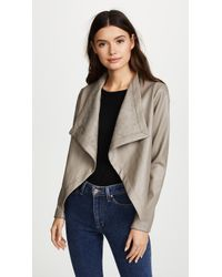 BB Dakota Peppin Vegan Leather Drapey Jacket - Multicolour
