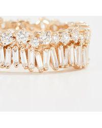 Suzanne Kalan Fireworks 18k Gold Diamond Double Band Ring - Metallic