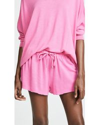 Honeydew Intimates Starlight French Terry Lounge Shorts - Pink
