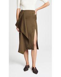 Cedric Charlier - Asymmetrical Skirt - Lyst