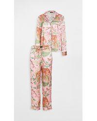 Karen Mabon Tiger Blossom Pajama Set - Orange