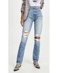 Khaite Daria Slim Jeans - Blue