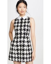 Alice + Olivia Ellis Gathered Zip Front Dress - Black