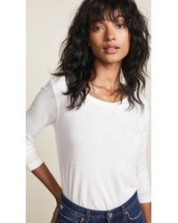 Madewell Whisper Cotton Long Sleeve Tee - White