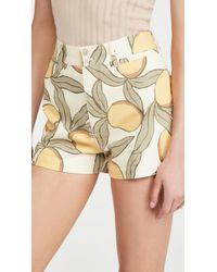 Rebecca Taylor Printed Shorts - Natural