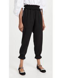 Simone Rocha Ruched Waist Sweatpants - Black