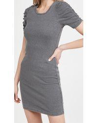 Sundry Puff Sleeve Dress - Grey