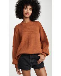 Free People Easy Street Tunic Sweater - Brown