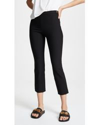 Vince - High Rise Crop Trousers - Lyst