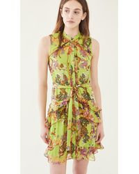 Saloni Tilly Ruffle-b Dress - Green