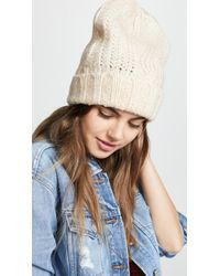 Free People - Harlow Cable Knit Beanie - Lyst