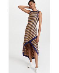 Victor Glemaud Sleeveless Asymmetrical Dress - Multicolour