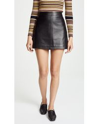 Cupcakes And Cashmere - Marrie Leather A-line Skirt - Lyst