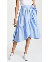 English Factory - Wrap Skirt With Ruffle Hem - Lyst
